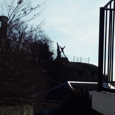 Вдали памятник Андрею Первозванному