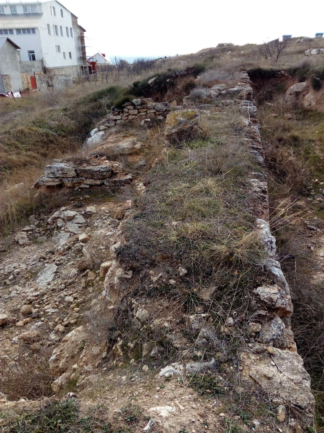Оборонительные стены Страбонового Херсонеса
