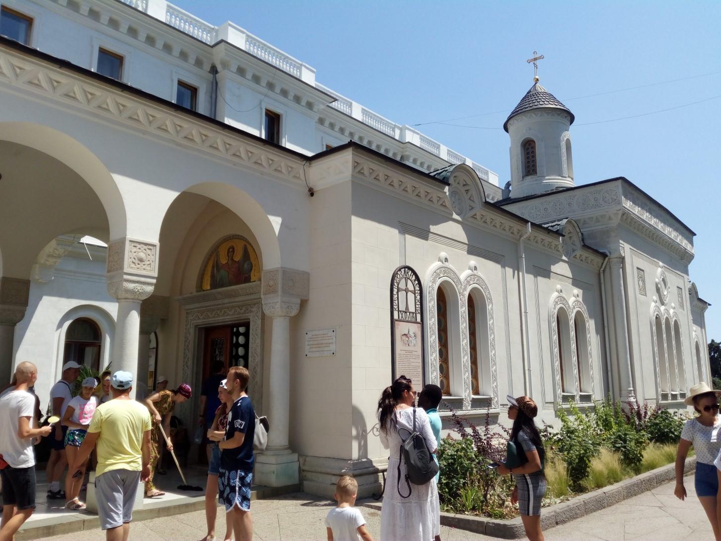 Крестовоздвиженский храм в Ливадии